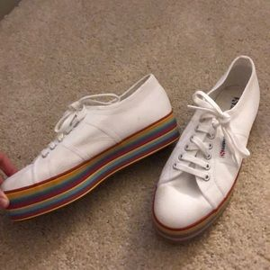 Superga Striped Platforms